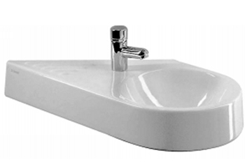 Duravit 076565-00-00 Architec Series Handrinse Basin-Right Side Bowl - White