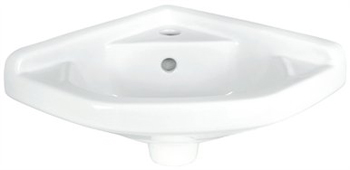 Elizabethan Classics ETCB-WH English Turn Corner Basin - White