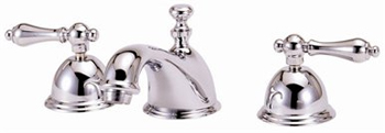Elizabethan Classics WS01-PB Two Handle Widespread Lavatory Faucet - Polished Brass (Pictured in Chrome)