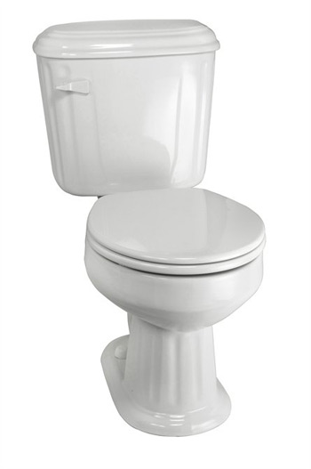 Elizabethan Classics ECABRF-WH Aberdeen Round Front Toilet - White
