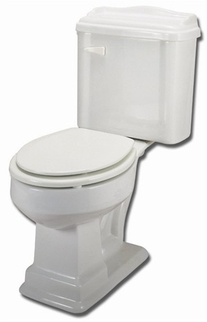 Elizabethan Classics ECETEL-BI English Turn Elongated Toilet - Bisque (Pictured in White)