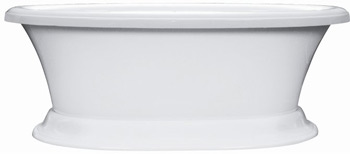 Elizabethan Classics USASPL Serenity Air Acrylic Bath Less Faucet Holes - White