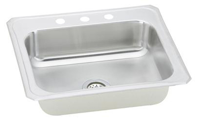 Elkay CR2522 Gourmet Celebrity Single Bowl Top Mount Kitchen Sink - Stainless Steel