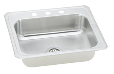 Elkay CR3122 Gourmet Celebrity Single Bowl Top Mount Kitchen Sink - Stainless Steel