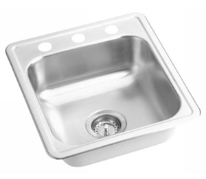 Elkay D117193 Dayton 3 Holes Drop-In Kitchen Sink - Stainless Steel