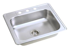 Elkay D125214 Dayton Single Bowl Kitchen Sink Top Mount - Stainless Steel