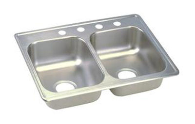 Elkay D225193 Dayton Double Bowl Kitchen Sink - Stainless Steel
