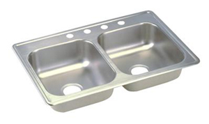 Elkay D233223 Dayton Double Bowl Topmount Kitchen Sink - Stainless Steel