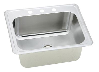 Elkay-DCR252210-Gourmet-Celebrity-Single-Basin-Kitchen-Sink---Stainless-Steel