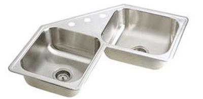 Elkay-DE21732-3-Dayton-Elite-Double-Bowl-Corner-Kitchen-Sink---Stainless-Steel