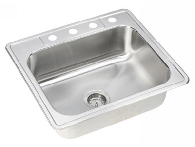 Elkay DSE125223 Dayton Elite Single Bowl Kitchen Sink - Stainless Steel