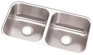 Elkay DXUH3118 Dayton Undermount Double Bowl Sink - Stainless Steel