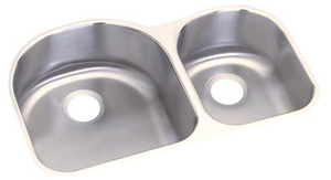 Elkay DXUH3119R Dayton Undermount Double Bowl Sink - Stainless Steel