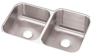 Elkay DXUH312010L Dayton Undermount Double Bowl Sink - Stainless Steel