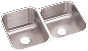 Elkay DXUH312010R Dayton Undermount Double Bowl Sink - Stainless Steel