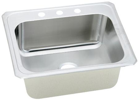 Elkay DCR252210-3 Celebrity Deep Single Bowl Kitchen Sink ...