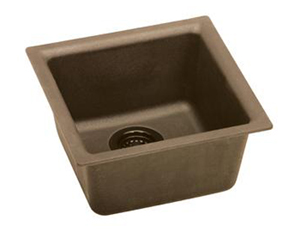 Elkay ELG1515MC0 Gourmet E-Granite Universal Mount Single Bowl Sink - Mocha