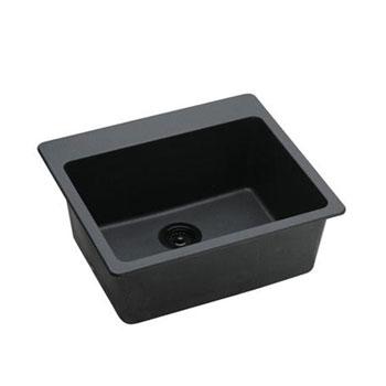 Elkay ELG2522BK-0 Gourmet E-Granite Sink - Black