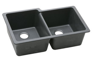 Elkay ELGU250RBK0 Gouirmet E-Granite Undermount Sink - Black