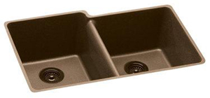 Elkay ELGU250RMC0 Gourmet E-Granite Undermount Sink - Mocha
