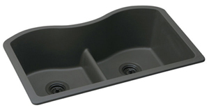 Elkay ELGULB3322BK Harmony E-Granite Undermount Sink Black