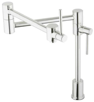 Elkay LK7767SSS Ella Dual Lever Deck Mounted Pot Filler - Satin Stainless Steel