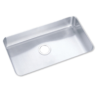 Elkay ELU281610 Gourmet Lustertone Undermount Single Bowl Kitchen Sink Stainless Steel