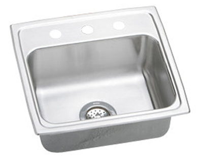 Elkay PSRQ19183 Gourmet Pacemaker Single Bowl Kitchen Sink - Stainless Steel
