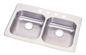 Elkay GE233214 Dayton Double Bowl Topmount Sink - Stainless Steel