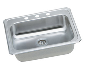 Elkay GECR2521R-3 Celebrity Gourmet Single Basin Top Mount Kitchen Sink - Stainless Steel