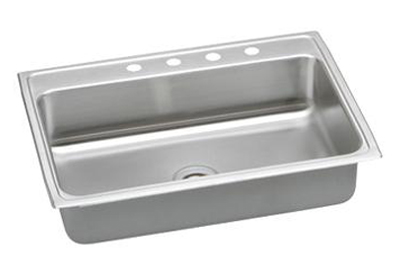 Elkay PSR31223 Gourmet Pacemaker Single Bowl Kitchen Sink - Stainless Steel