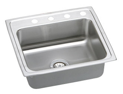 Elkay PSRQ22194 Gourmet Pacemaker Single Bowl Top Mount Kitchen Sink - Stainless Steel