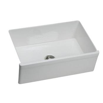 Elkay SWUF28179WH Explore Undermount Sink Fine Fireclay - White