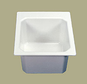 Florestone SR17 Self-Rimming Utility Sink White