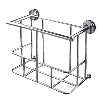 Gatco 1551 Latitude II Magazine Rack Chrome