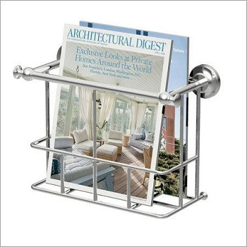 Gatco 1557 Traditional Magazine Rack Satin Nickel