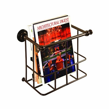 Gatco 1558 Traditional Magazine Rack Burnished Bronze