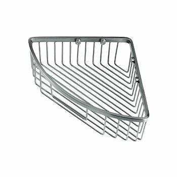 Gatco 1571 Corner Soap Basket Satin Nickel