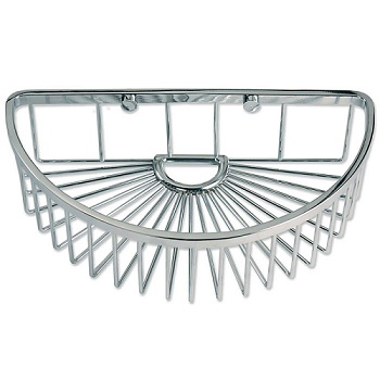 Gatco 1573 Half Round Soap Basket Chrome