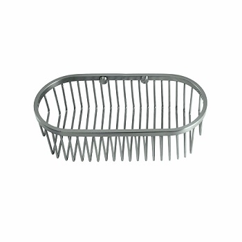 Gatco 1577 Soap Basket Satin Nickel