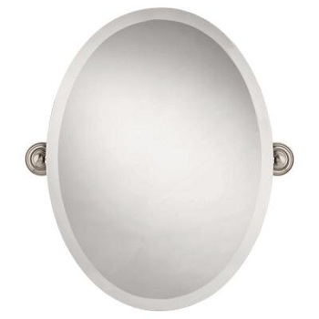 Gatco 4159 Jewel Oval Mirror Satin Nickel