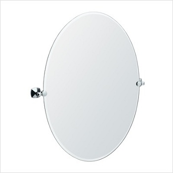 Gatco 4159LG Jewel Large Oval Mirror Satin Nickel