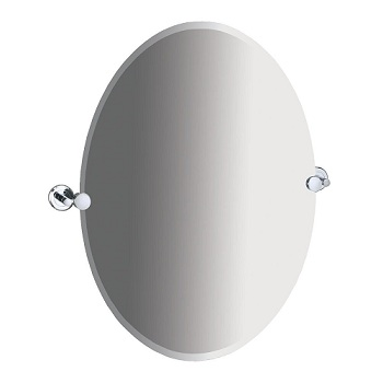 Gatco 4249 Latitude II Oval Mirror Chrome
