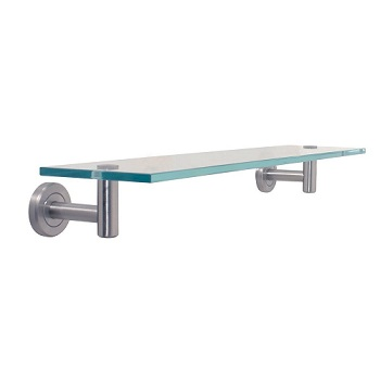 Gatco 4296 Glass Shelf Satin Nickel