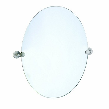 Gatco 4299 Latitude II Oval Mirror Satin Nickel