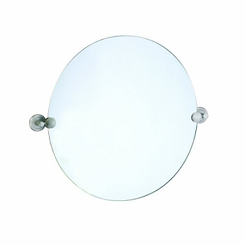 Gatco 4299R Latitude II Round Mirror Satin Nickel