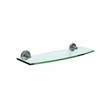 Gatco 4856 Max Glass Shelf Satin Nickel