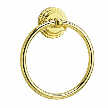 Gatco 5211 Marina Towel Ring Polished Brass