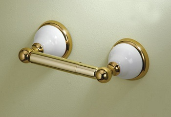 Gatco 5273 Franciscan Toilet Paper Holder Polished Brass