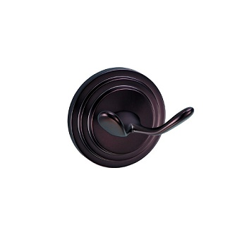 Gatco 5838 Marina Twin Robe Hook Oil Rubbed Bronze